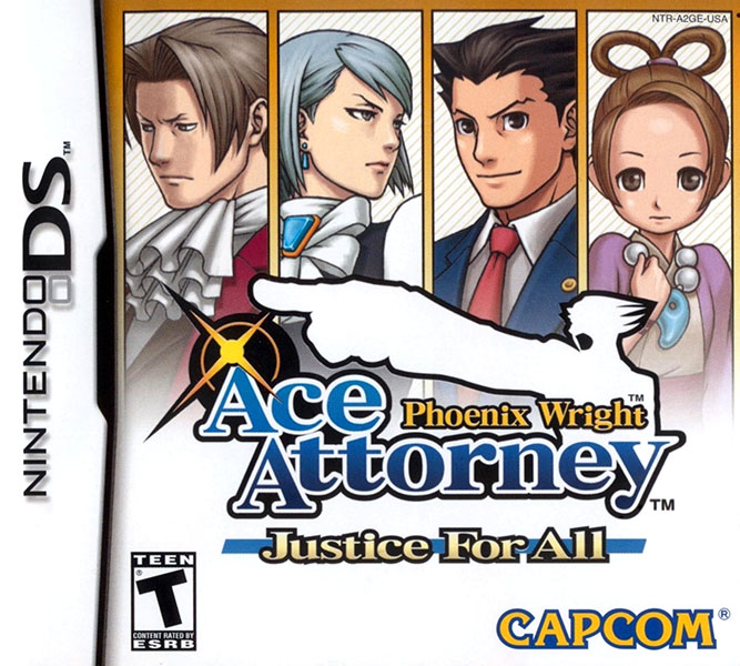 Phoenix Wright: Ace Attorney - Justice for All Nintendo DS NTSC-U Box Art