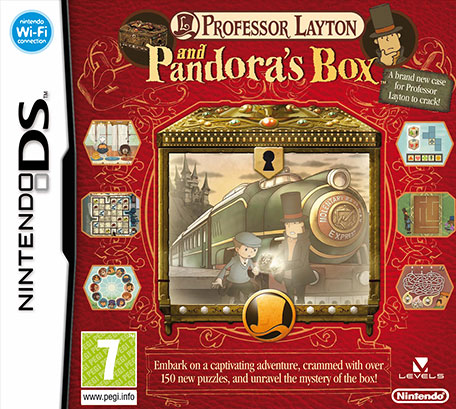 Professor Layton and Pandora's Box Nintendo DS PAL Box Art