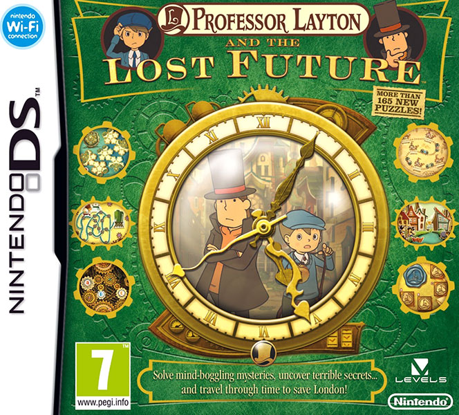 Professor Layton and the Lost Future Nintendo DS PAL Box Art