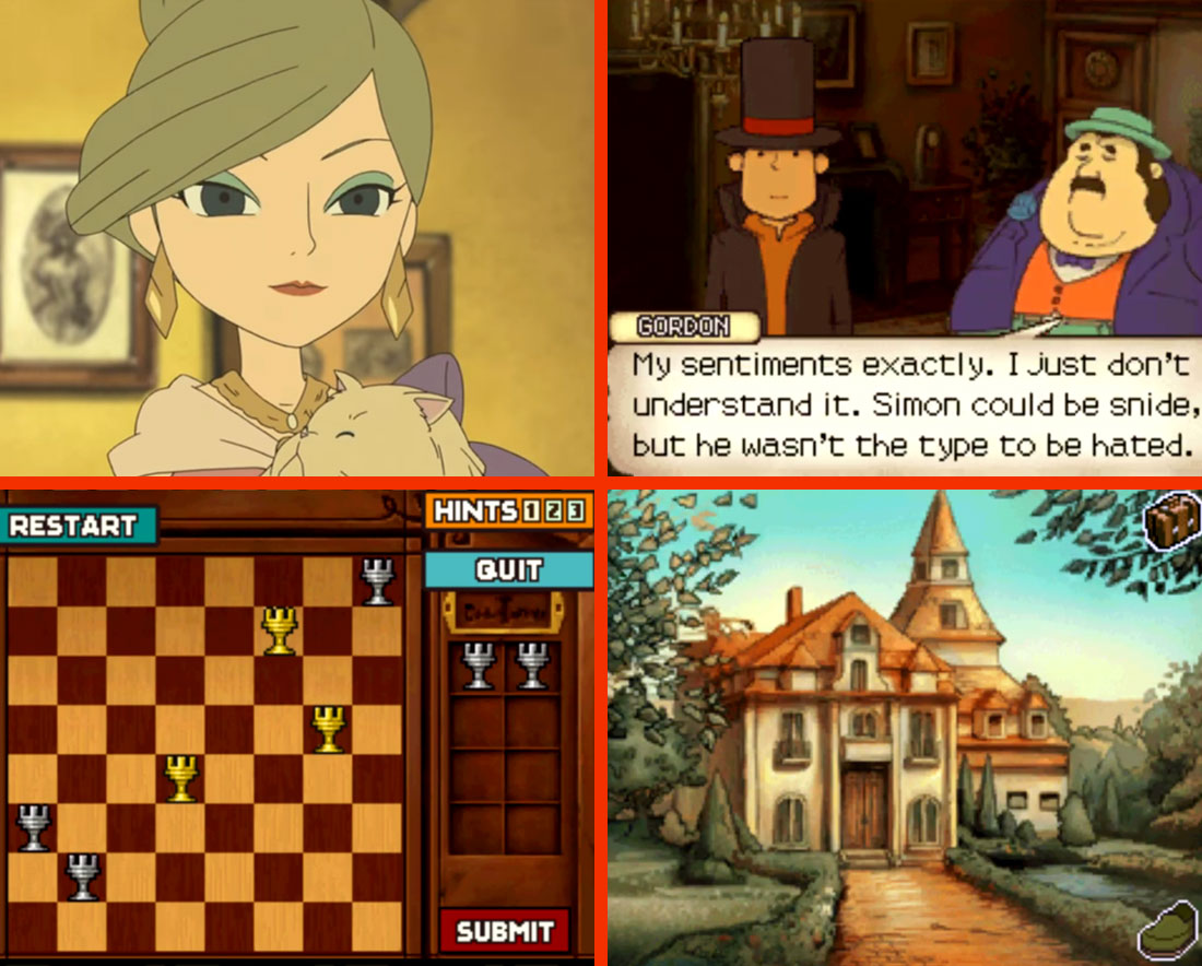 Professor Layton and the Curious Village Gameplay Screenshots