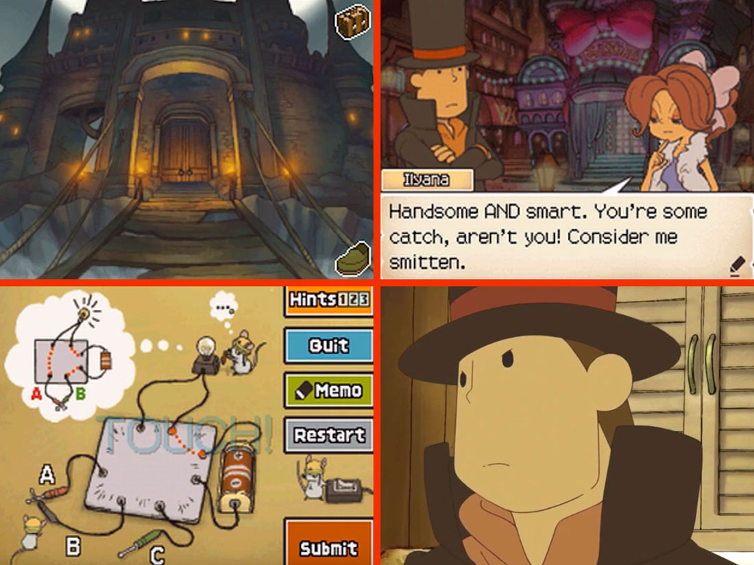 Professor Layton and Pandora's Box Gameplay Screenshot