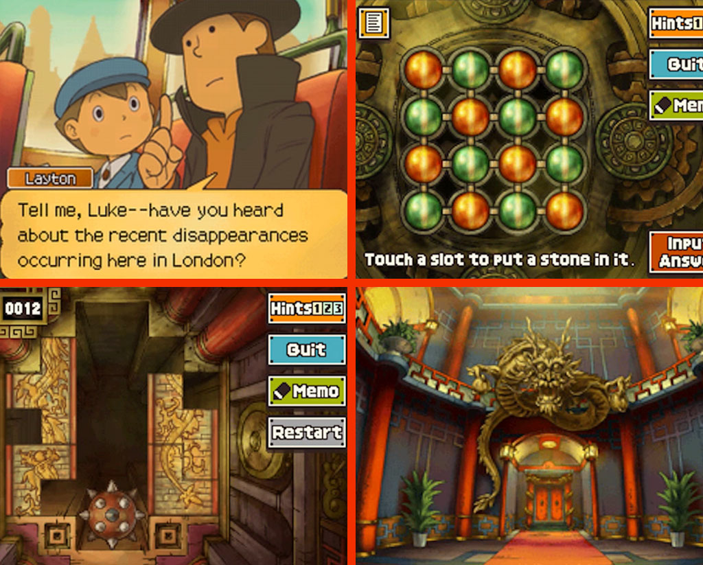 Professor Layton and the Lost Future Gameplay Screenshot