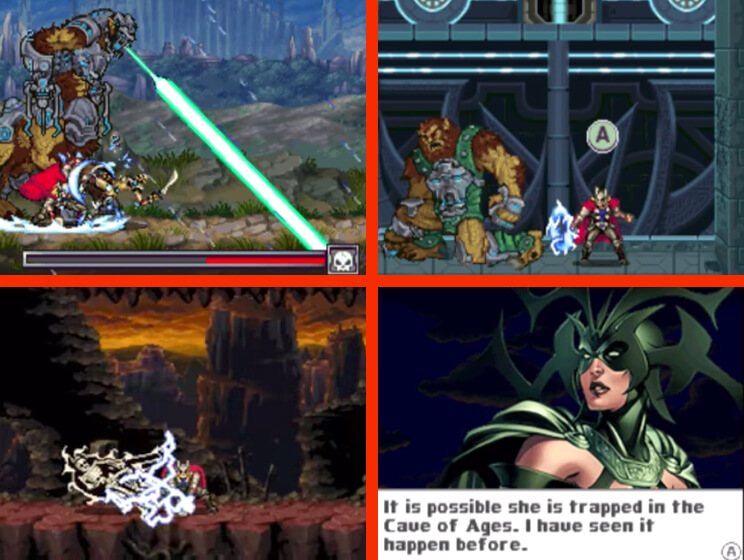 Thor God of Thunder Nintendo DS Gameplay Screenshot