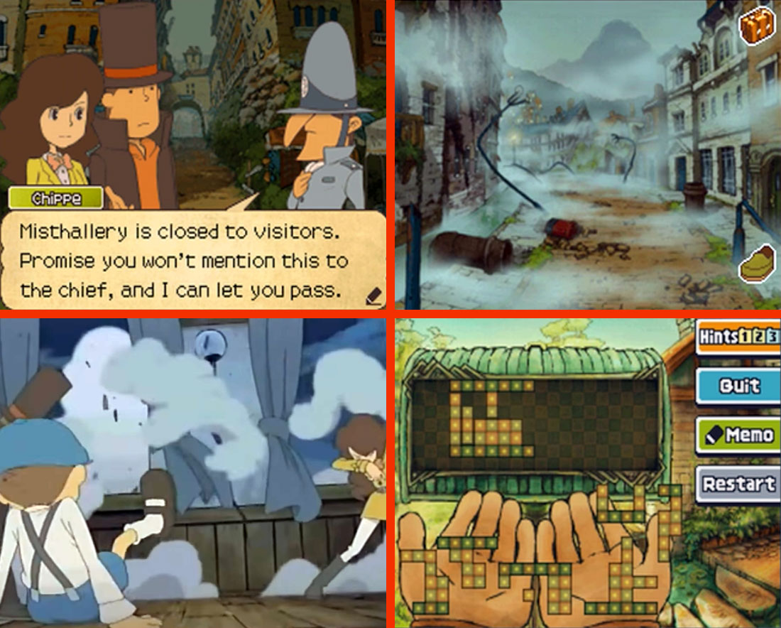 Professor Layton and the Spectre's Call Gameplay Screenshot