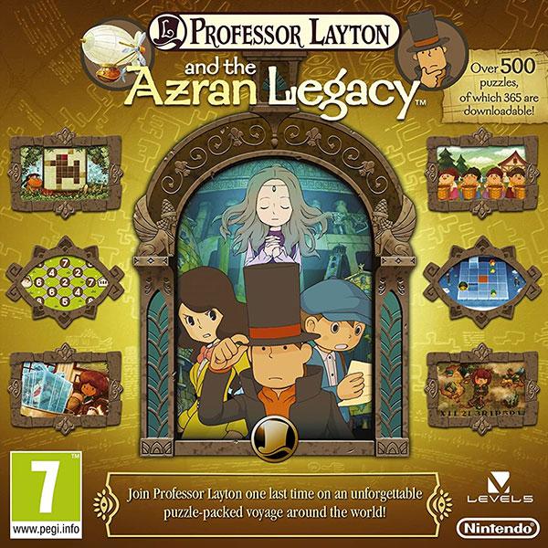 Professor Layton and the Azran Legacy Nintendo 3DS Box Art TEST