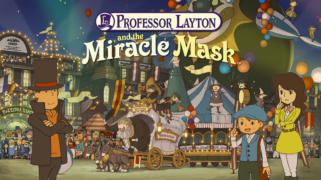 Professor Layton and the Miracle Mask Banner