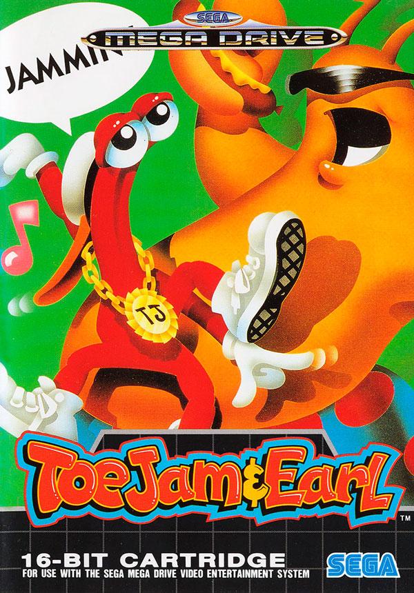 Toejam & Earl PAL Mega Drive Box Art