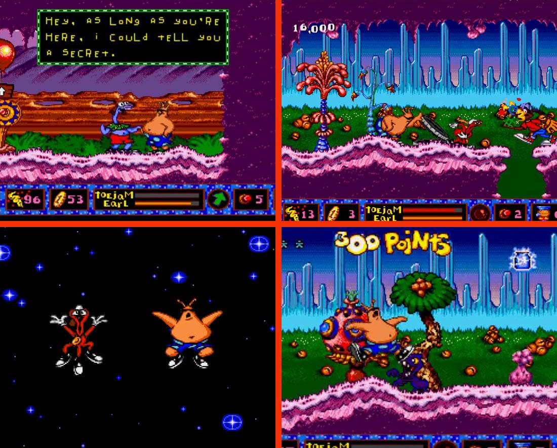 Toejam & Earl in Panic on Funktron Gameplay Screenshot
