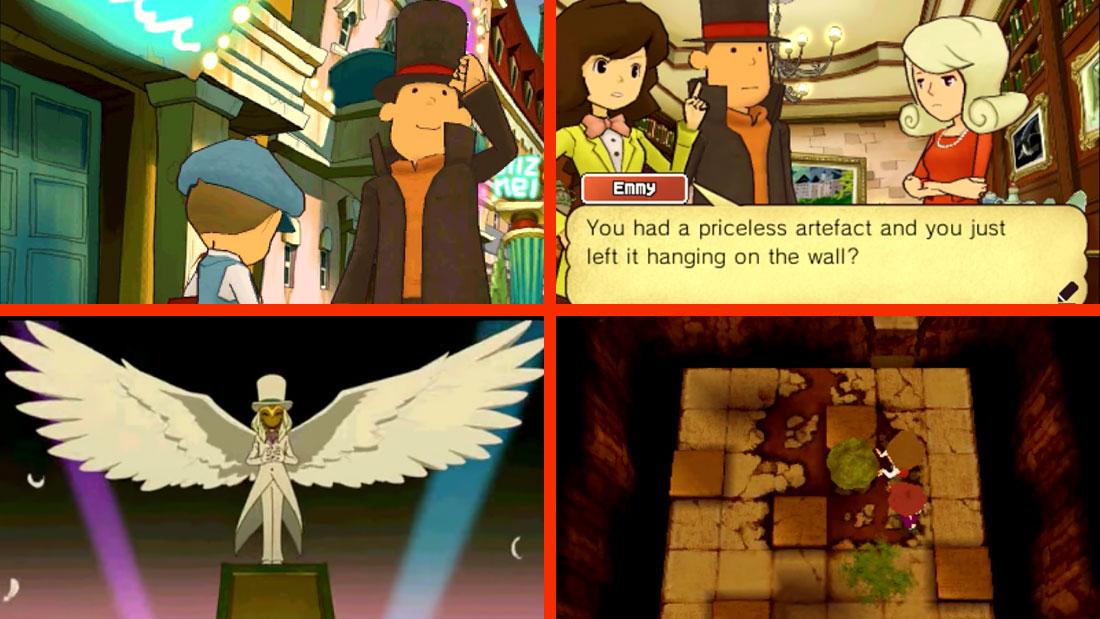 Professor Layton and the Miracle Mask Screenshots