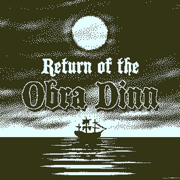 Return of the Obra Dinn box art showing a merchant ship sailing under the moonlight
